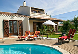 Coastal villa sleeping 8 with private heated pool