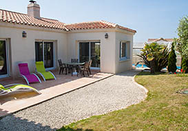 Villa on the Vendee coast at Longeville sur Mer
