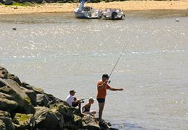 Fishing in the vendee - beach, river and lake.