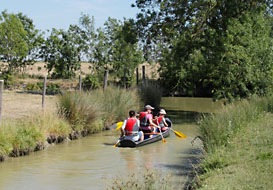 Canoeing along canals Longeville sur Mer