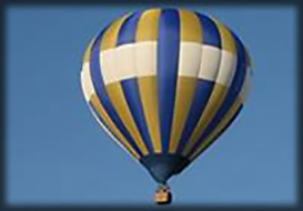 Hot-air ballooning in the Vendee